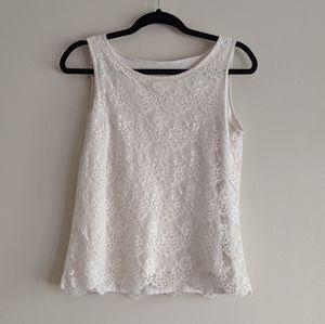 Cleo   petite beige lace shirt